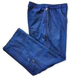 NIKE   Lined Nylon Track Pants Leg Zippers 29x30